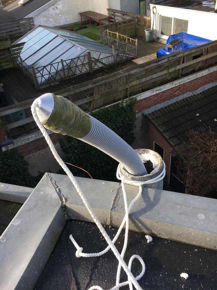 Installatie rookgasafvoer